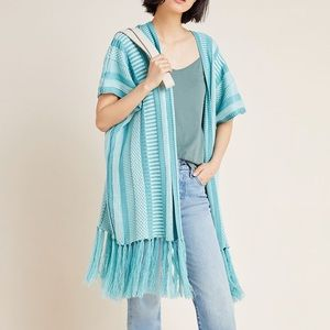 Anthropologie Fringed Kimono One Size